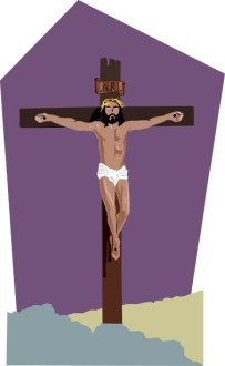Christ on Cross with INRI inscribed above