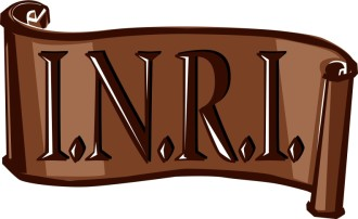 INRI Scroll in Brown
