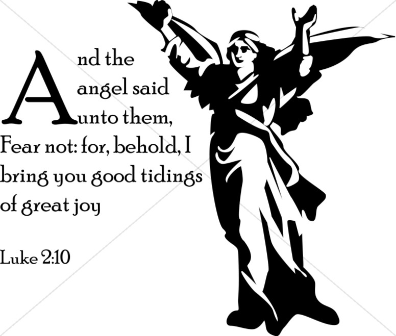Luke 2:10 with Messenger Angel