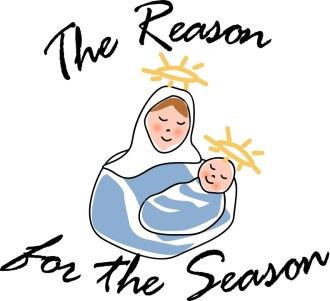Christmas Greeting with Mary and Jesus