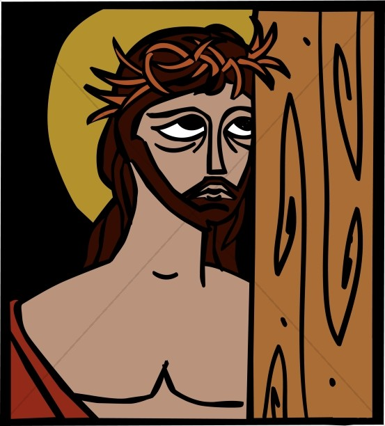 Jesus with Crown of Thorns Graphic Portrait