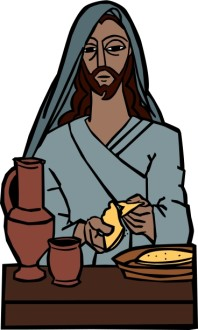 Jesus Breaks Bread at the Last Supper