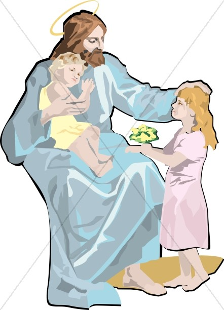 Jesus Embraces the Children