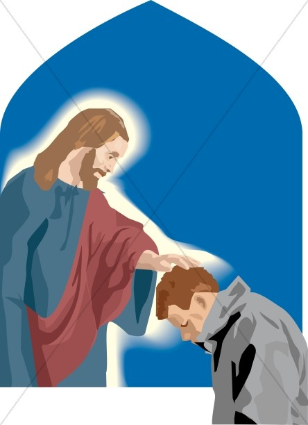 Jesus Touches Praying Man
