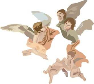 Cherubim Angels Clipart