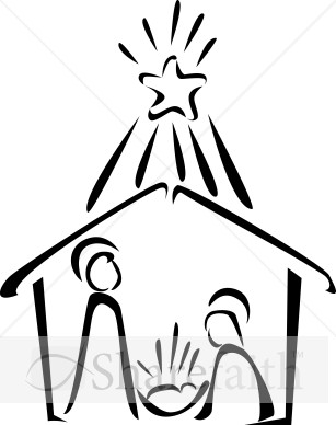 Nativity in Black and White with