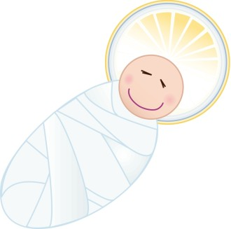 Swaddled Baby Jesus Cartoon