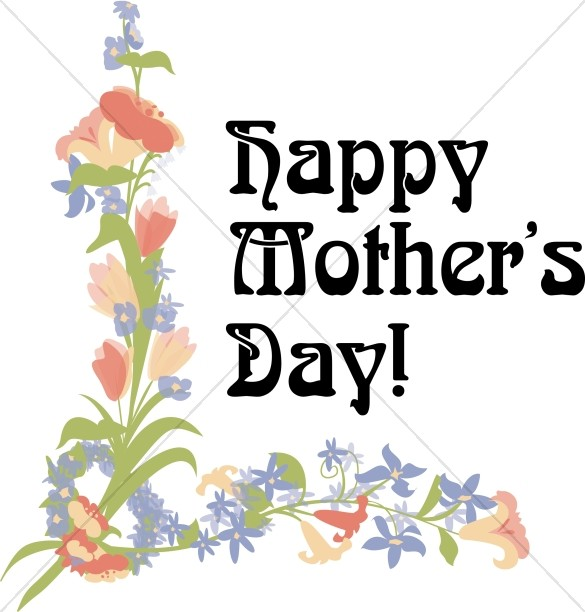 Happy Mother's Day with Floral Corner