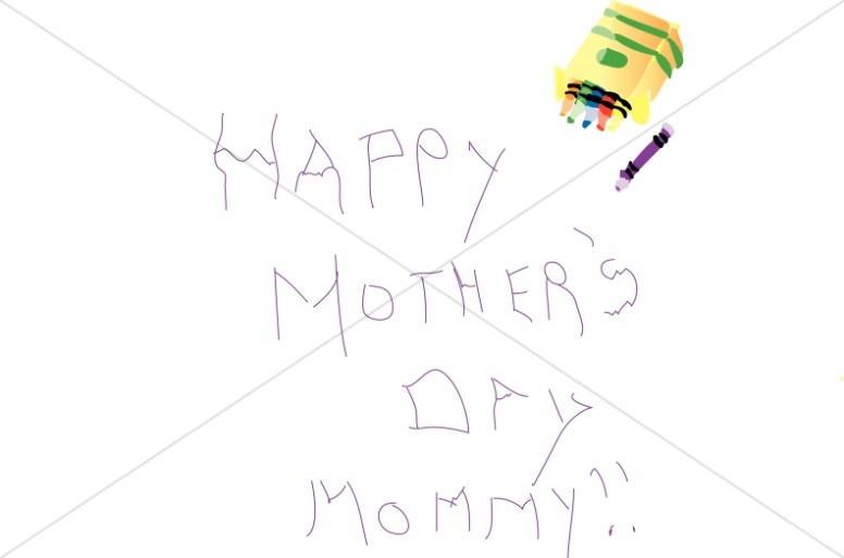 Kid's Scrawl Mother's Day