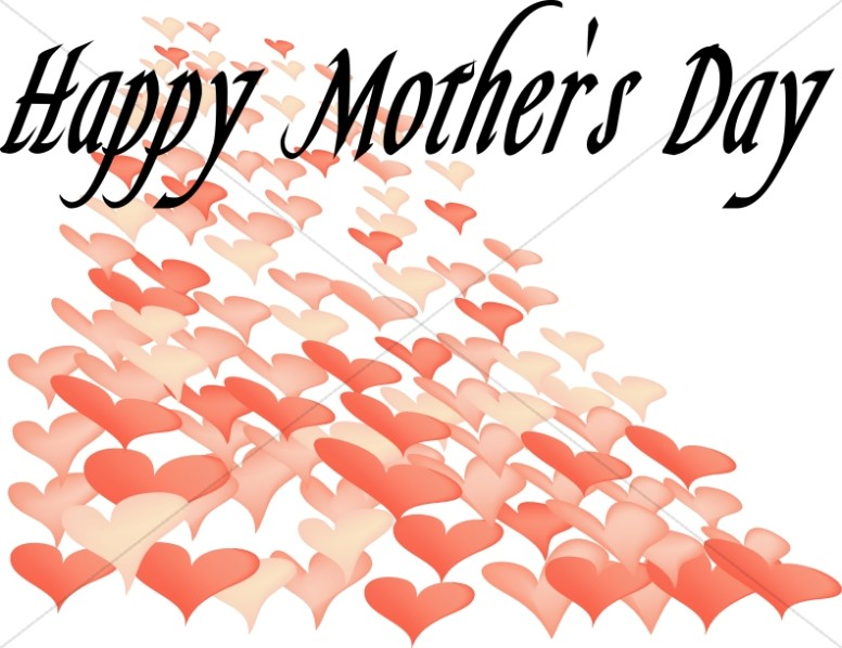 Many Hearts Happy mother's Day