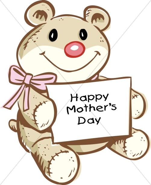 Cute Teddy with Mother's day Card
