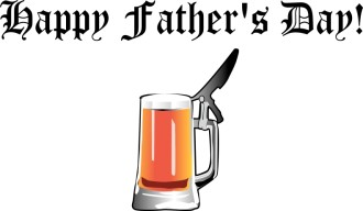 Happy Father's Day with Beer Stein