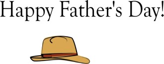Hapy Father's Day with Hat
