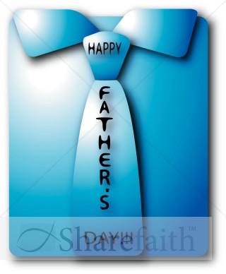 Happy Father's Day folded Shirt and Tie