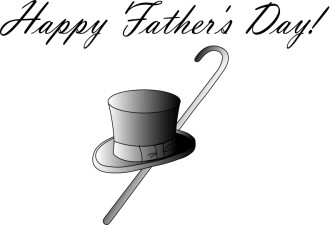Happy Father's Day Top Hat and Cane