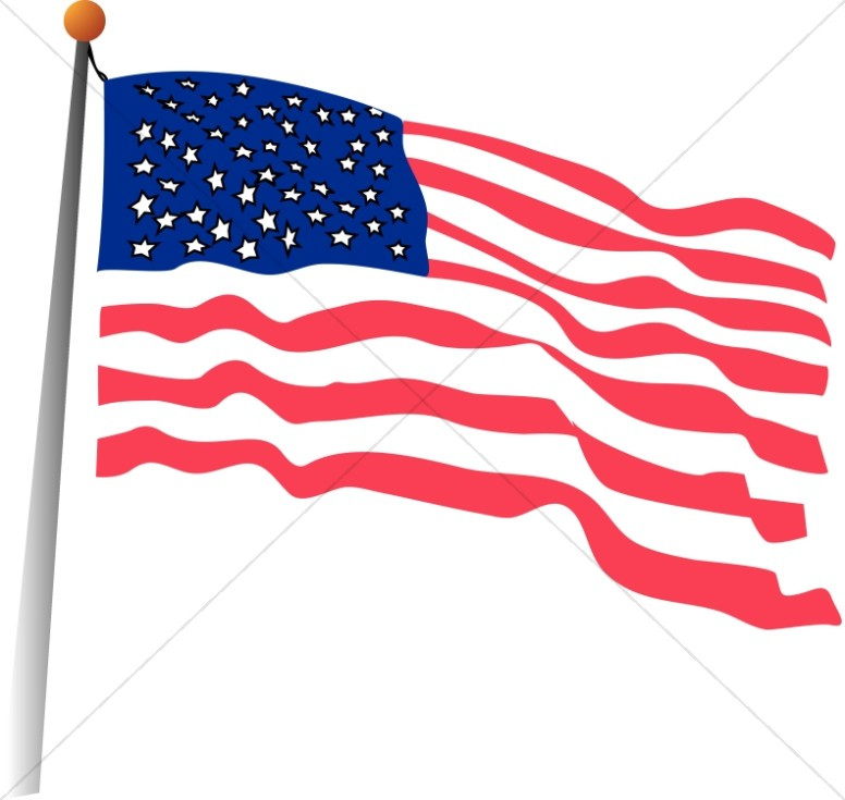 The Stars and Stripes In the Wind