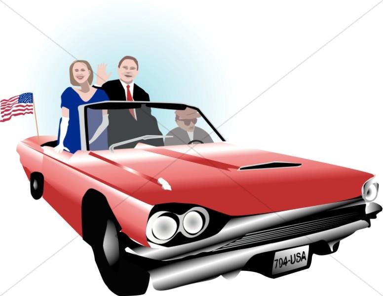 VIP in a Classic Car