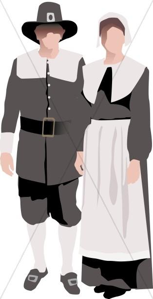 Symbolic pilgrim Couple