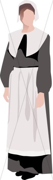 Pilgrim Woman Symbolic