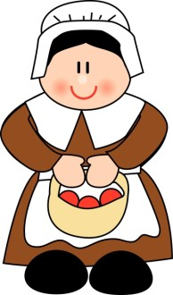 Cute Pilgrim Woman