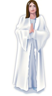 Woman in Prayer Clipart
