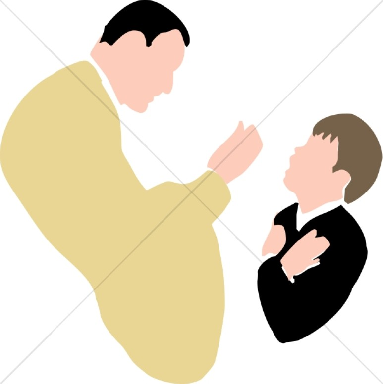 Young Boy Receiving Communion