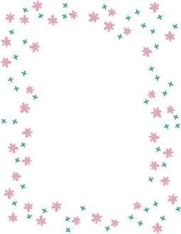 Pink and Blue Floral Frame