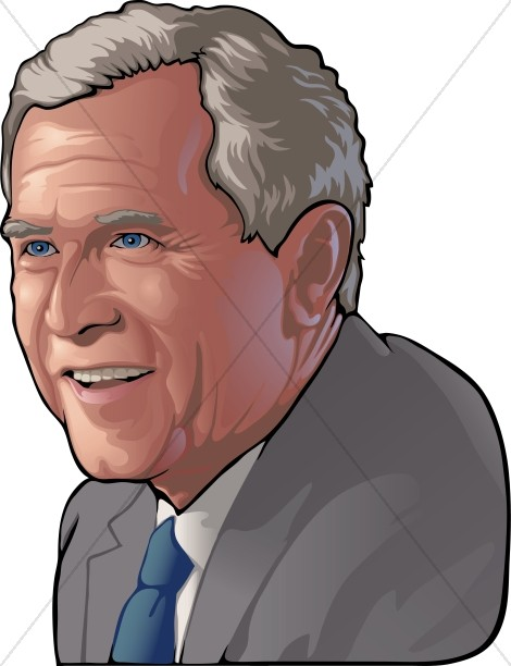 Vexel George W Bush Famous People Clipart