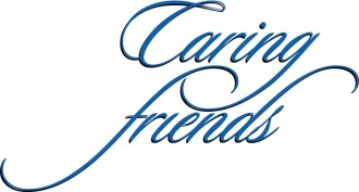 Caring Friends Blue Script