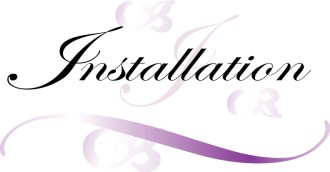 Installation Script with Purple Swirls
