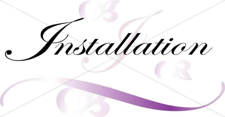 Installation Script with Purple Swirls