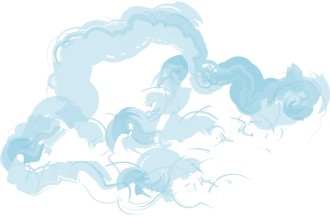 Blue Clouds Motif