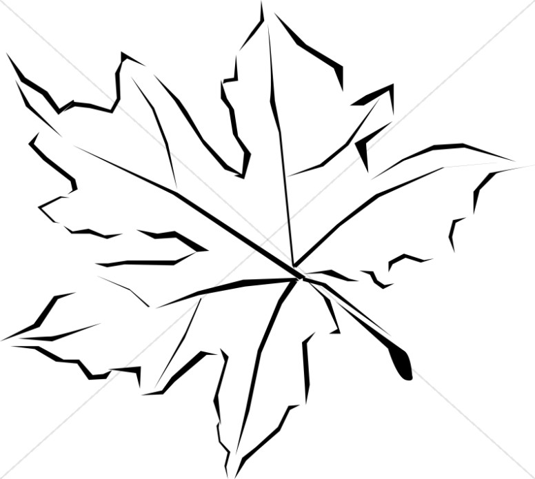 Line Art Fall Leaf