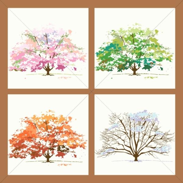 Four Seasons Trees in Frame
