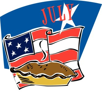 American Flag and Pie in July