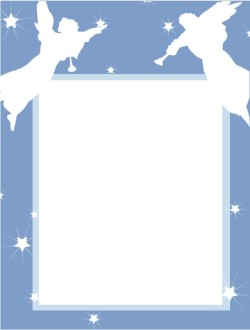Blue Star Frame with Angel Cut Outs