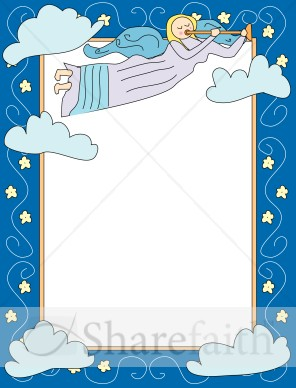 cartoon angel frame religious borders