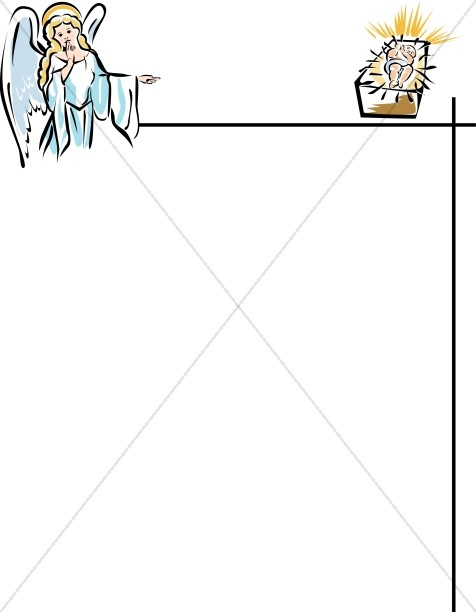 Angel and Baby Jesus Page Frame