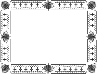 Horizontal Easter Bulletin Border 