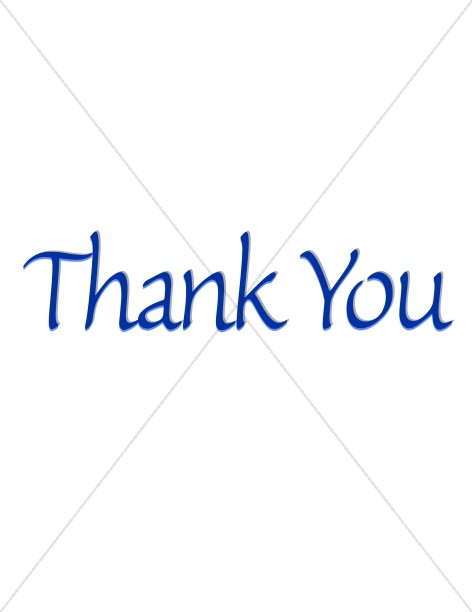 Simple Blue Thank You