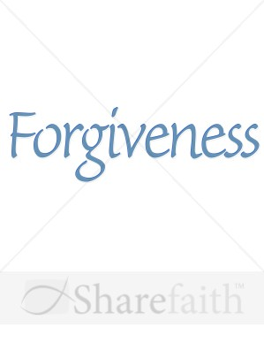 Forgiveness In Blue Inspirational Word Art