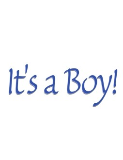 It's a Boy!