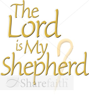 The Lord Is My Shepherd with Crook Staff