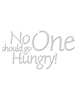 No One Should Go Hungry Food Drive Typography