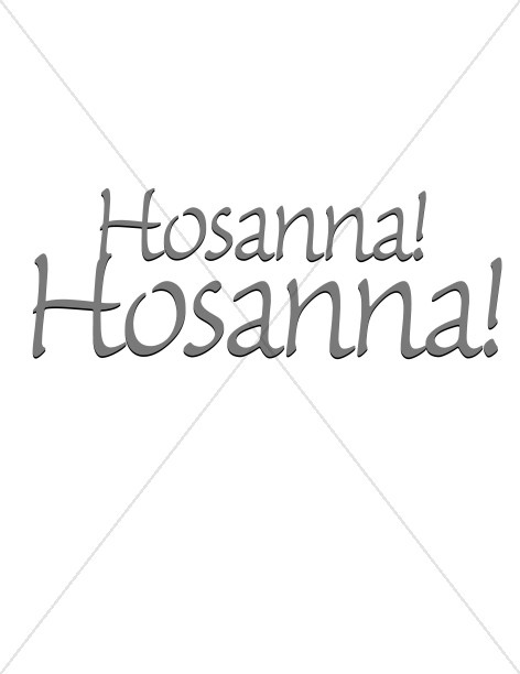 Hosanna In Writing