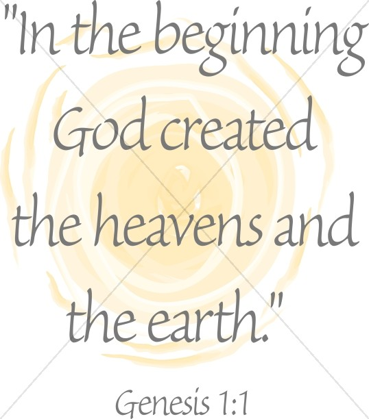 In The Beginning Quote from Genesis