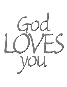 God Loves You Word Art