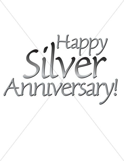 Happy Silver Anniversary words