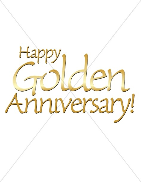 Happy Golden Anniversary words
