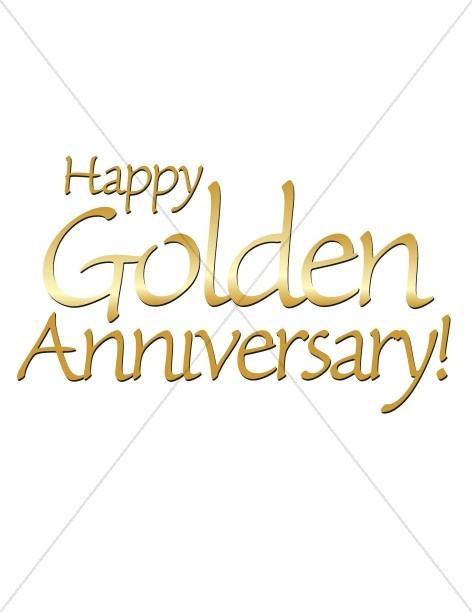 Happy Golden Anniversary words